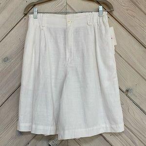 Vintage Lizsport Linen High Rise Shorts